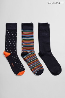 Lot de trois paires de chaussettes GANT avec coffret-cadeau