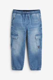Denim Cargo Trousers (3-16yrs)