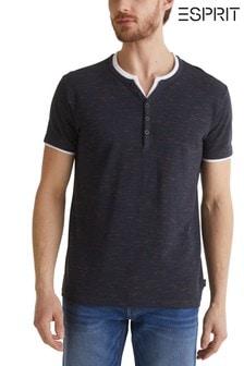 Esprit Blue Henley T-Shirt