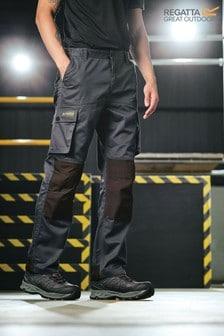 Regatta Black Heroic Workwear Cargo Trousers