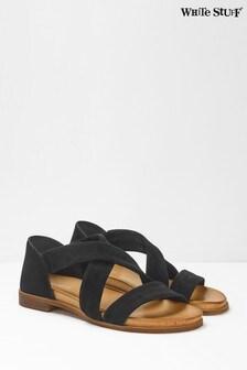 White Stuff Black Sacha Strappy Backed Sandals
