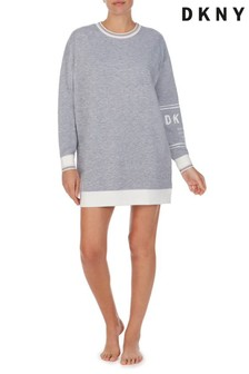DKNY Grey Long Sleeve Sleepshirt