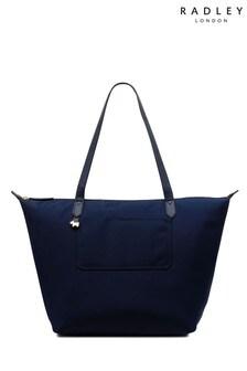 Radley Blue Pocket Essentials Large Shoulder Zip Top Bag