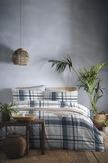 Appletree Brampton Brushed Cotton Check Duvet Cover and Pillowcase Set