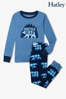 طقم بيجاما للأطفال أزرق دبBrother منHatley