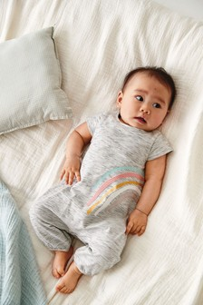 Rainbow Stripe Romper (0mths-2yrs)