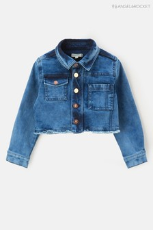 Синяя джинсовая куртка с потертостями Angel & Rocket