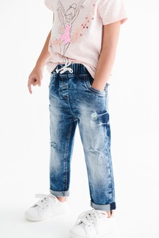 Distressed Pull-On Jeans (3mths-7yrs)
