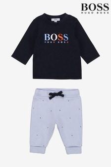 BOSS Navy T-Shirt & Trousers Set