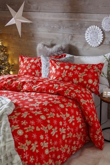 Christmas Gingerbread Duvet Cover and Pillowcase Set