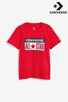 חולצת טי של Converse לילדים עם לוגו לוחית