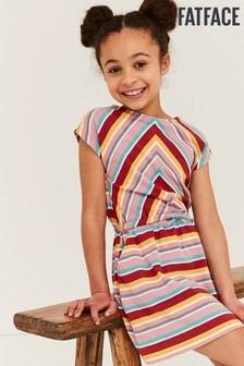 FatFace Callie Kleid mit mehrfarbigen Streifen
