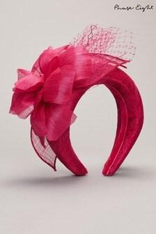 קשת לשיער שלPhase Eight דגם Lottie בצבעאדום עם פרח