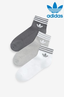 adidas Originals 3 Pack Trefoil Ankle Socks