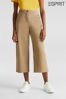 Esprit Cream Cropped Culottes