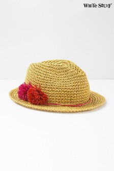 White Stuff Natural Crochet Fedora Hat