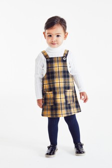 Pinafore And Tights Set (3mths-7yrs)