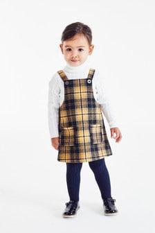 エプロンドレス&タイツ セット (3 か月~7 歳)
