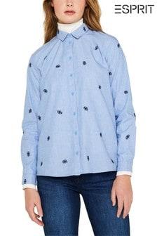 Esprit 藍色 Easy 全印花襯衫