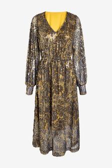 Mesh Sequin Dress
