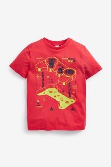חולצת טי מודפסת (גילאי 3 עד 16)