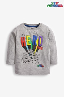 חולצת טי ארוכה של 'כוח פי ג'יי' מבד ג'רזי (9 חודשים עד גיל 8)