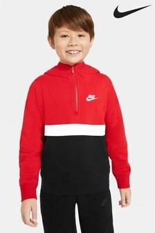 Толстовка с капюшоном и молнией до середины груди Nike