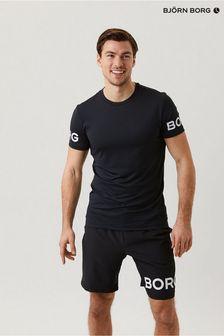 Bjorn ボア ブラック ホワイトロゴ T シャツ