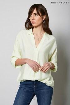 חולצת אוברסייז בירוק בהיר של Mint Velvet