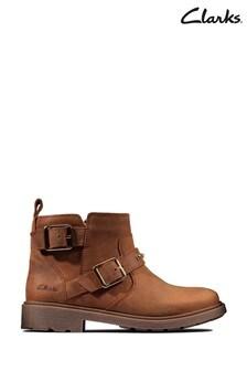 Clarks Tan Astrol Trim Boots