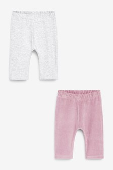 2 Pack Velour Trousers (0mths-2yrs)