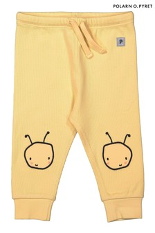 Polarn O. Pyret Yellow GOTS Organic Knee Patch Trousers