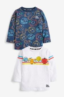 2 Pack Mr Men Jersey Long Sleeve T-Shirts (3mths-8yrs)