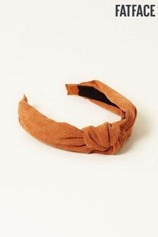 FatFace Orange Plain Knitted Headband