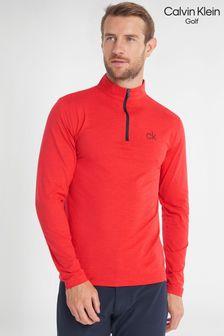 Calvin Klein Golf Red Newport Half Zip Top
