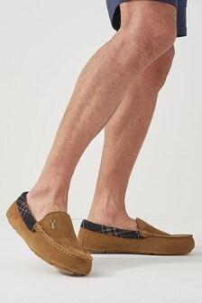 Тапочки-мокасины в винтажном стиле