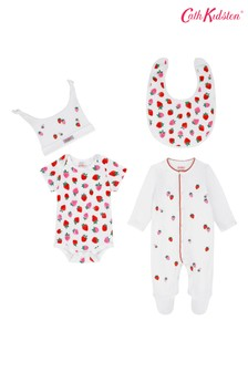 Cath Kidston Sweet Strawberry 4-teiliges Baby-Starterset, Creme