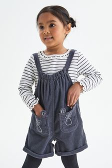 3 Piece Character Dungarees With Top And Tights Set (3mths-7yrs)