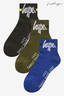 Hype. Quarter Length Socks Three Pack