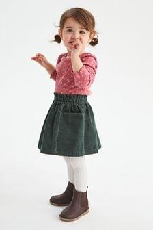 تنورة قماش مخملي مضلع (3 شهور -7 سنوات)