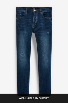 Slim Leg Distressed Jeans