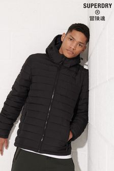 Superdry Black Fuji Hooded Jacket