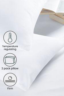 Firm Temperature Regulating Set of 2 Pillows