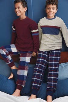 2 Pack Check Pyjamas (3-16yrs)