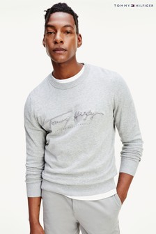 Tommy Hilfiger Grey Tonal Autograph Sweater