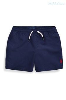 Темно-синие пляжные шорты с логотипом Ralph Lauren