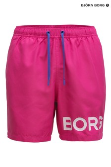 Bjorn Borg Pink Sheldon Swim Shorts