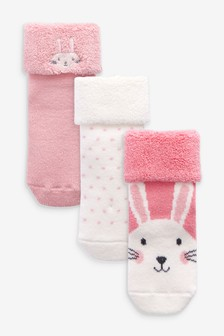 3 Pack Towelling Socks (Younger)