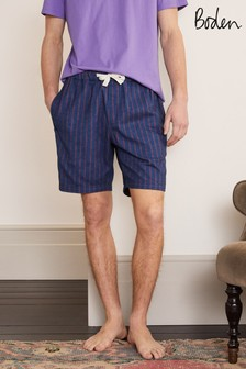 Boden Blue磨毛棉布短褲睡褲