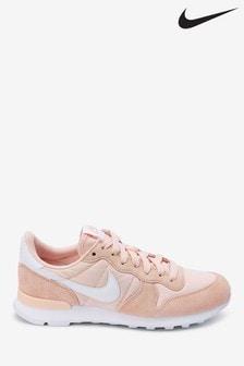 Nike Peach Internationalist Trainers
